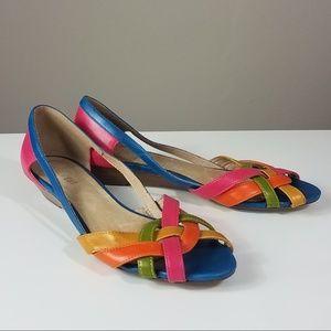 Nine West Multicolor Sandal Flats